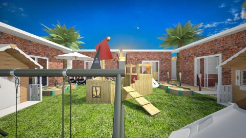 Courtyard Playground - Modern - Garden  - by Gre_Taa