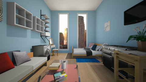 BedroomBlue - by Noella Louisy