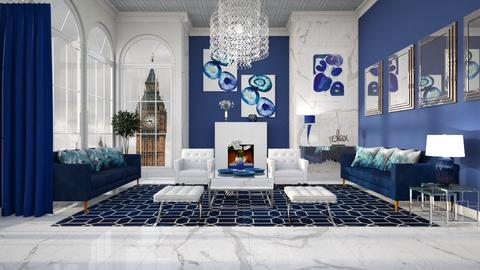 BODACIOUS BLUE RUG - Modern - Living room  - by RS Designs