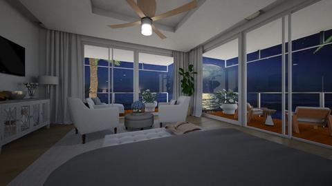Tropcal Night Sky Bedroom - Bedroom  - by islandvibz