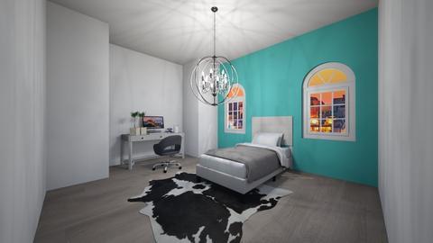 College Dorm - Bedroom  - by Skwood