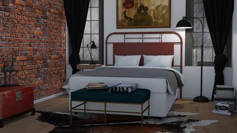 Industrial style - Bedroom  - by Tuija
