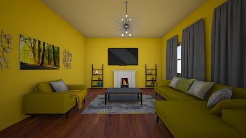 Yellow Living Room - Modern - Living room  - by tamerablender1