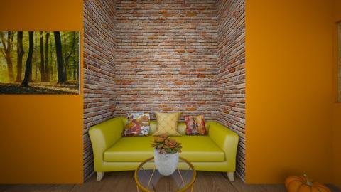 autumn living room - Living room  - by kwiatowa pandzia