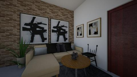 Living Gon ladrillo - Masculine - Living room  - by Nazarenafs
