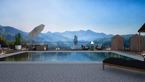Mountain Pool side1 - Garden - by Galit Dayan Raviv