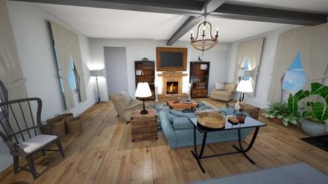 Stone Revival Living - Rustic - Living room  - by Buffy7