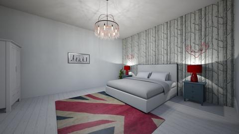 British Bedroom - Bedroom - by Poey