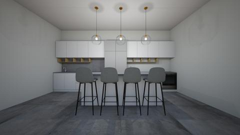 Kitchen Grey and White - Kitchen  - by AGB08