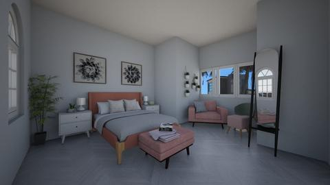 Blush Pink Dusty Green Br - Bedroom  - by SammiAly