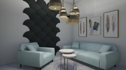 Mint Green - Living room  - by Two Kittens
