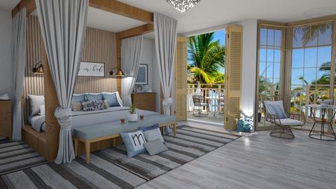 beach bedroom - by milica tanurdzic