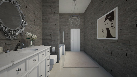 Narrow Bathroom - Bathroom  - by janelle1