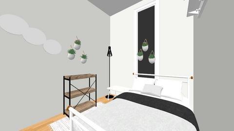 design 1 apartment room - Bedroom  - by ashlynbickett
