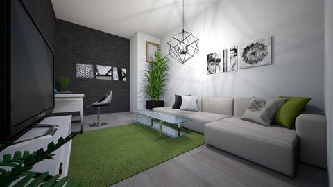 living room - Office - by ViktorLatecka