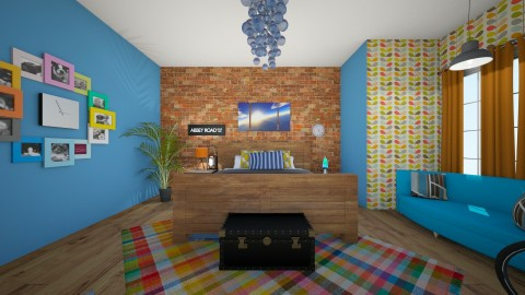 Blue Bedroom - by talialodaya