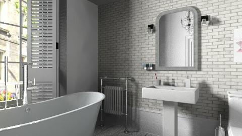 White - Classic - Bathroom  - by Tuija