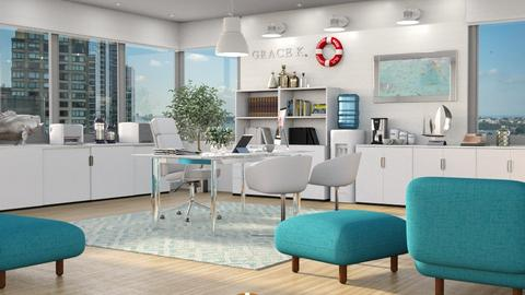 Nautical Office - Office  - by GraceKathryn