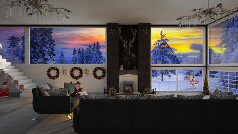 Snow sunset - Living room  - by Christina8898