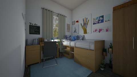 dorm room - by skylerbrown