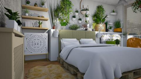 Plant room  - Modern - Bedroom  - by augustmoon
