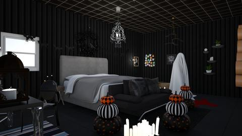 Halloween Ready - Bedroom  - by Eli_Anna
