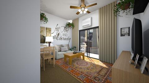 Newlywed Apartment - Living room  - by SammyJPili
