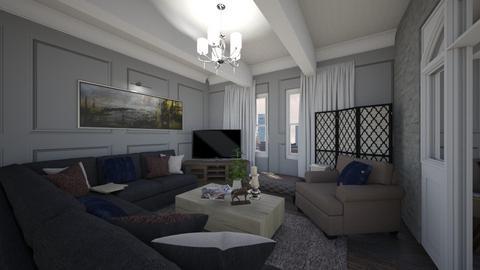 bathroom 1 - Rustic - Living room  - by ana luiza protti