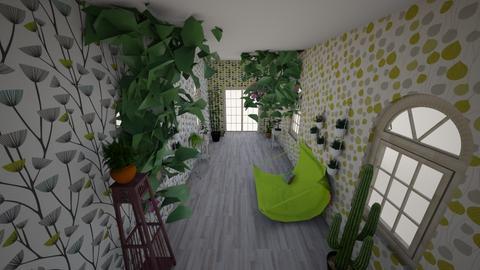 Urban Jungle hallway - by majatheB