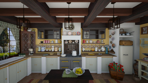 Rustic kitchen - Rustic - Kitchen  - by maja97