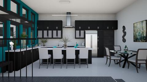 City Apartment - Kitchen  - by Amyz625