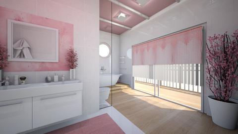 Cherry Blossom Bathroom - Bathroom  - by LaJuno98