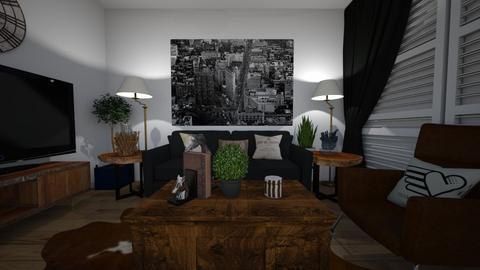 black and brown  - Living room  - by zainab alkaram