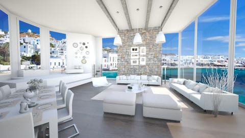 white lrm - Modern - Living room  - by Senia N