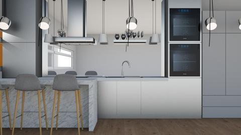 silver - Modern - Kitchen  - by NEVERQUITDESIGNIT
