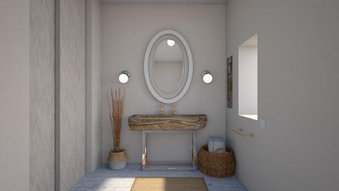 Wood and rattan bathroom - Bathroom  - by Maaikevh