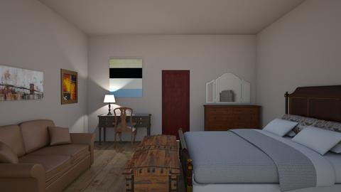 inn - Rustic - Bedroom  - by sriiracha