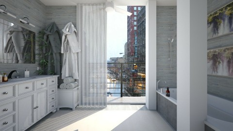 Tiny bathroom with view - Bathroom  - by AnnaMull