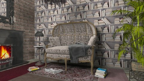 Book Nook - Eclectic - Living room - by Theadora