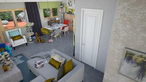 LIVING SUL TEVERE - Vintage - Living room  - by PROGETIM