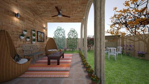 hallway - Garden  - by Barbara Valdes