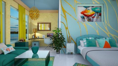 turquoise bedroom - Bathroom - by zayneb_17