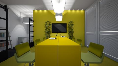 Yellow Working Area - Office  - by ashley_rose04