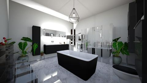 Modern Black and white   - Modern - Bathroom - by neha123