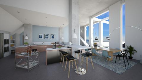 Ocean View - Modern - Dining room  - by evahassing