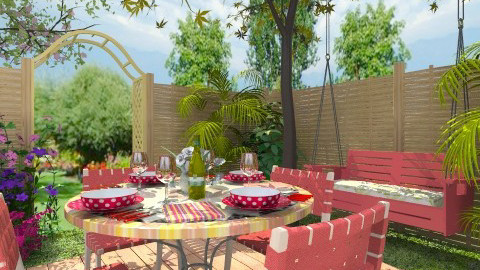 Outdoor Dining - Classic - Garden  - by Bibiche
