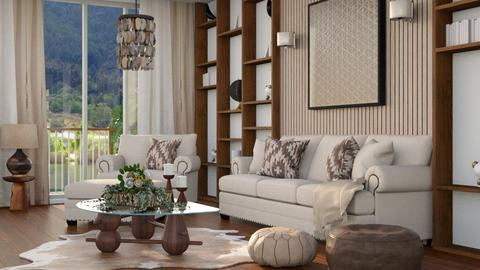 Wooden Wall - Living room  - by bigmama14