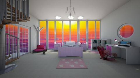 Pink room - by HorseLoverArtist