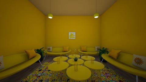 Neon yellow living room  - Living room  - by Sophia_