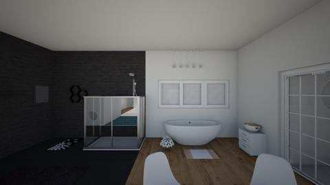 Black and White - Modern - Bathroom  - by hannahelise